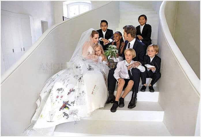 אנג'לינה ג'ולי ובראד פיט חתונה