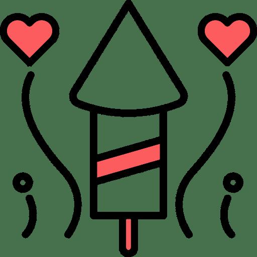 אייקון לבבות עם חץ